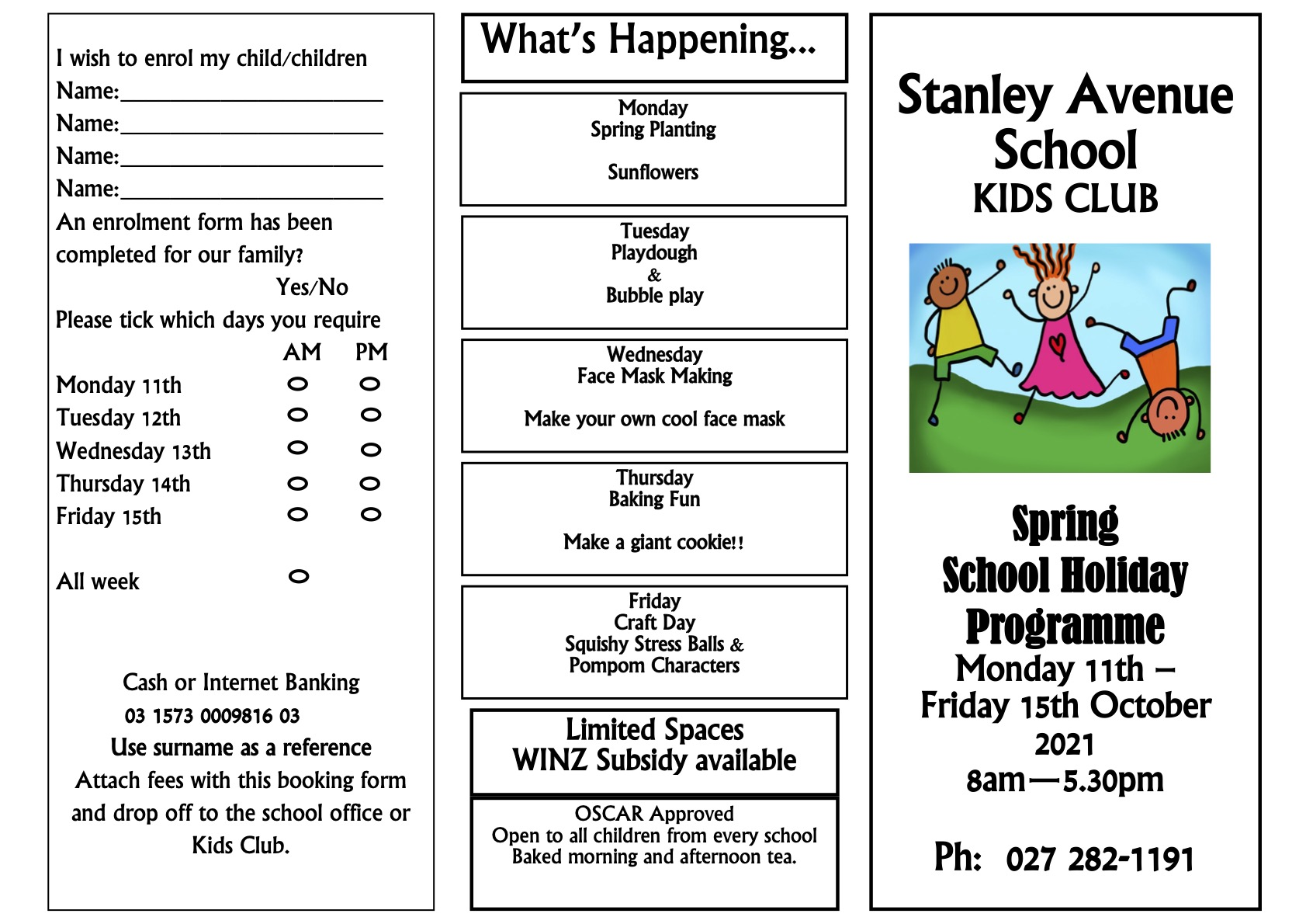 Our School, Stanley Avenue School